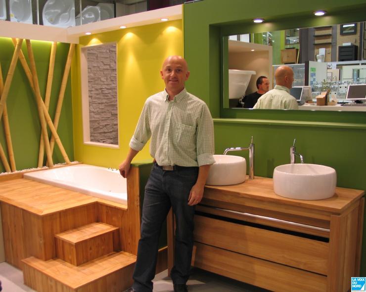Meuble salle de bain bois leroy merlin for Meuble de salle de bain bois exotique